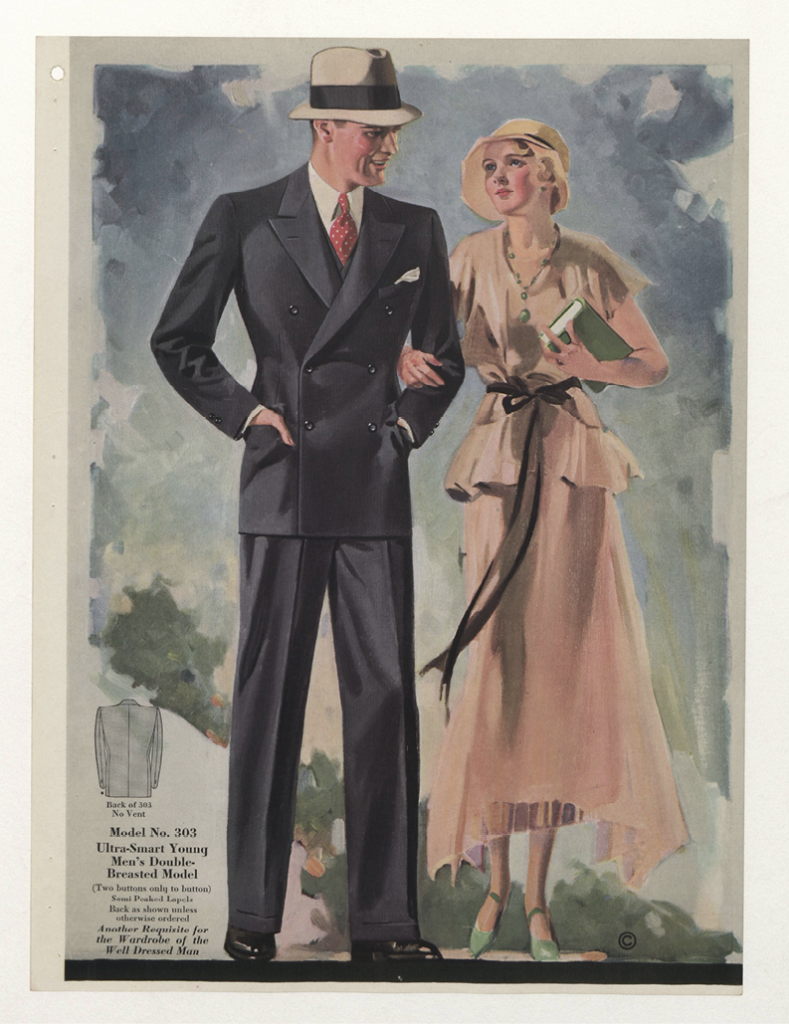 Figure 3: Menswear 1930s - American, Plate 020. Gift of Woodman Thompson. Costume Institute, Metropolitan Museum of Art.