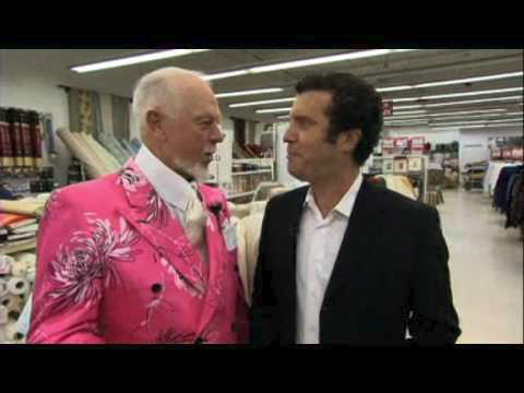 "Figure 4: Screencap from ""Making a suit with Don Cherry."" YouTube, uploaded by Rick Mercer Report, 18 Nov. 2008"