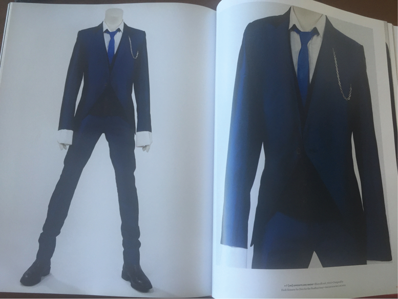 Figure 6 Slimane-designed suit for Bowie (photo: S. Ingram)