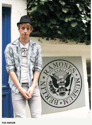 Figure 21 Flo Hayler in front of the original Ramones Museum location in Kreuzberg (courtesy of Flo Hayler)